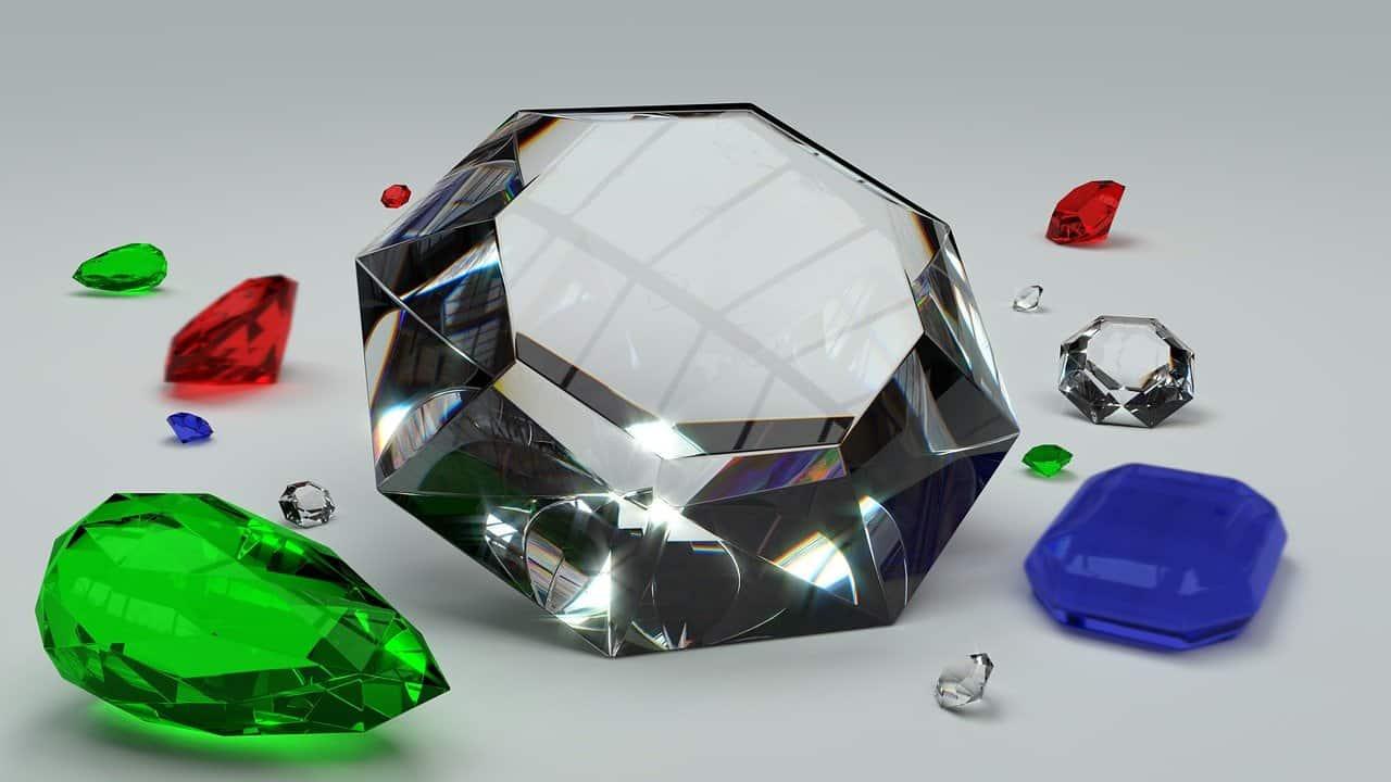 יהלומים בגדלים שונים