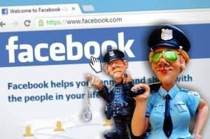 שוטרים בדף פיסיבוק