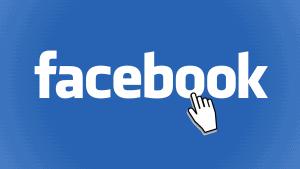 עכבר על לוגו של פייסבוק