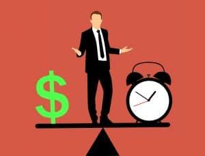 שעון איש וסימן של כסף
